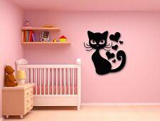 Wall Stickers Vinyl Decal Cat Animal Kitten Pets Love Romantic Heart (ig315)