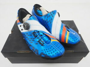 New! Bont Helix Road Cycling Shoes Size 10.5 US, 45 EU (Blue/Orange/White)
