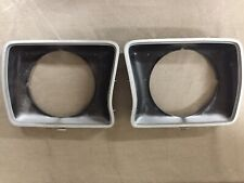 Headlight Door Set For 1978-1979 Ford F-150 Left & Right w/ Round Headlamps OEM