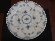 Royal Copenhagen Blue Flute Open Lace Dinner Plates 12 Available
