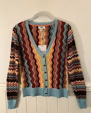 NEW TARGET ANNIVERSARY MISSONI ZIG ZAG LONG SLEEVE SWEATER CARDIGAN SIZE SMALL