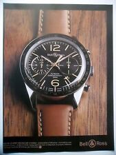 PUBLICITE-ADVERTISING :  BELL & ROSS BR126 Sport Heritage GMT & Flyback  2014 Mo