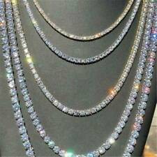 Hip Hop Shine Iced Rhinestone Yellow Gold Plated Tennis Chain Mens Necklaces NEW