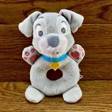Disney Store Lady & The Tramp Rattle baby soft plush toy comforter puppy dog vgc