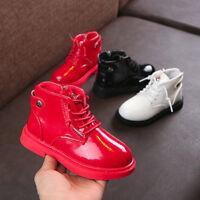 Children Kids Warm Boys Girls Martin Sneaker Boots Snow Baby Zip Casual Shoes
