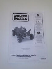 Power Wheels Batman Dune Racer/car~Original instruction/Owner's manual DMT54