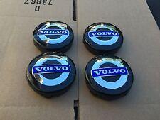 NEW 4PC SET OF 4 VOLVO BLACK & BLUE CENTER WHEEL HUB CAPS COVER LOGO RIM 3546923