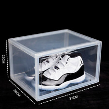 Sneaker Shoes Box Large Magnetic Plastic Container Storage Organizer Stackable
