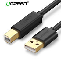 UGREEN USB 2.0 Printer Scanner Cable Cord USB Type A Male to B Male for HP Canon