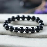 Natural Gemstone Agate Round Stone Beads Stretchable Bracelet Bangle 10mm J77