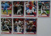 2019 Topps Update Philadelphia Phillies Base Team Set 7 Baseball Cards