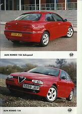 Alfa Romeo 156 Selespeed 1999 T259 JEP Original UK Press Photograph x 5