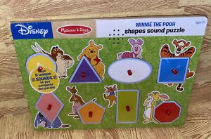Disney Melissa & Doug Winnie the Pooh Shapes Sound Wooden Peg Puzzle 8 Pieces