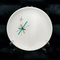 "VTG Mid Century Modern 6.12"" Atomic Star Burst Salem North Star Bread Plate"