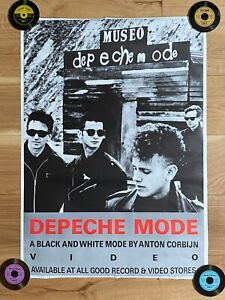 DEPECHE MODE Museo: A Black And White Mode RARE VINTAGE 1990s UK PROMO POSTER