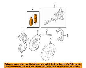 GM OEM Brake-Rear Pads 18048690
