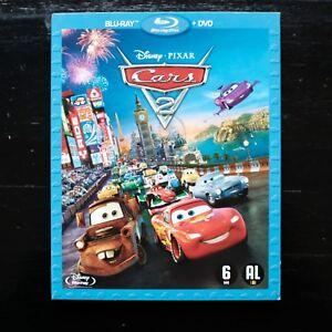 CARS 2 - DISNEY-PIXAR - 2 DVD:  BLU-RAY + DVD