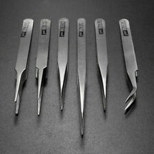 6Pcs Pro Anti-Static Stainless Steel Tweezers Set Maintenance Tools C6K0 I8Z3