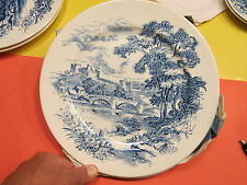 Wedgwood Co Ltd Countryside England set of 5 plates-(3)10 inch and (2) 7 inch