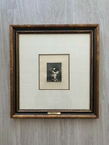 Francisco de Goya Original Framed Etching - The Little Prisoner