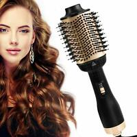 One-Step Hair Brush Dryer & Volumizer Ionic Technology Hair Curler Straightener