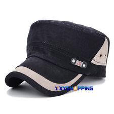 Unisex Ajustable Sombrero Mujer Hombre Béisbol Militar LISO EXTERIOR Cadete