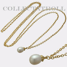 "Authentic Trollbead Necklace Gold 14K Fantasy Pearl Necklace 39.4"" RETIRED"