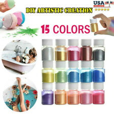 15 Color Mica Powder Natural Pigments Epoxy Resin Dye For DIY Slime Adhesive Bat