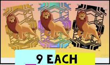Topps Disney Collect AURA MUFASA  9 BLACK 9 GOLD AND 9 RAINBOW