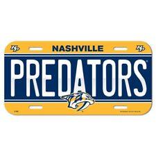 Nashville Predators License Plate Plastic