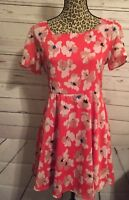 Francesca's Collection Womens Open Back Fit and Flare Dress Size Large