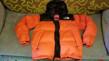 SUPREME X NORTH FACE NUPTSE ORANGE M DOWN JACKET box crewneck hoodie mountain