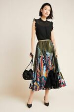 Anthropologie New Lisabetta Pleated Maxi Skirt Size XL NWT