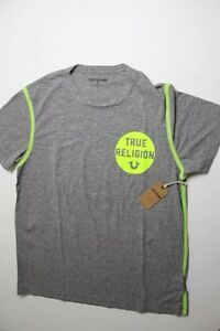 New True Religion Men Logo Gray     Shirt XLarge XL made in USA