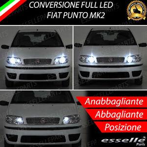 KIT FARI FULL LED FIAT PUNTO 188 MK3 ANABBAGLIANTI ABBAGLIANTI LUCI POSIZIONE