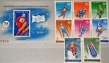 ROMANIA RUMÄNIEN 1987 4418-25 Block 238 3487-94 Winter Olympics 1988 Calgary MNH