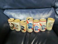 Vintage Set of 7 Pabst Blue Ribbon BEER CAN Pull Tab EMPTY