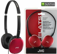 Auricolari e cuffie rosso audio portatile JVC