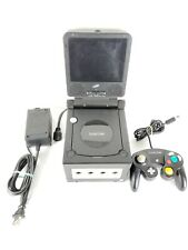 Nintendo GameCube Black Console Bundle With Intec Monitor GameBoy Player Tested