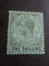 GIBRALTAR 1912 1sh Black/green SG 81 mm