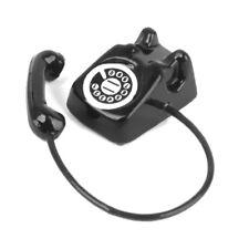 Vintage Metal Phone Telephone Black for 1/12 Dollhouse Miniature Accessories