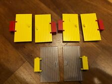 LEGO town VINTAGE doors yellow and trans clear