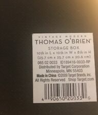 THOMAS OBRIEN Beautiful Brown Storage Cube Box, 10-1/8 X 10-1/8 X 8-1/8-NWT