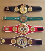 WBC WBA WBO IBF Championships Boxing Belt Mini 4 Belts