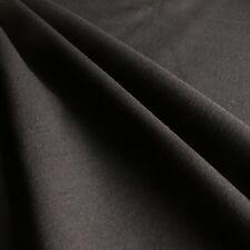 Plain Black Ponti Roma 4 Way Stretch Heavy Jersey Fabric 150cm Wide 360gsm