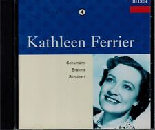 KATHLEEN FERRIER  VOL.4-SHUMANN/BRAHMS/SCHUBERT-MINT CD