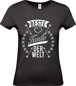 Shirtstown Lady T-Shirt, beste Tante der Welt, Familie