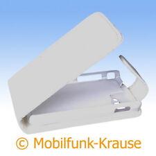 Flip Case Etui Handytasche Tasche Hülle f. Samsung Star 3 (Weiß)