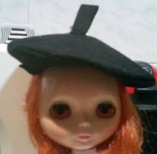 Blythe cute Black handmade hat , dress ,  Outfit , doll not enclosed