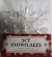 CHRISTMAS Snowflake String Lights 5' long  Indoor/Outdoor Use